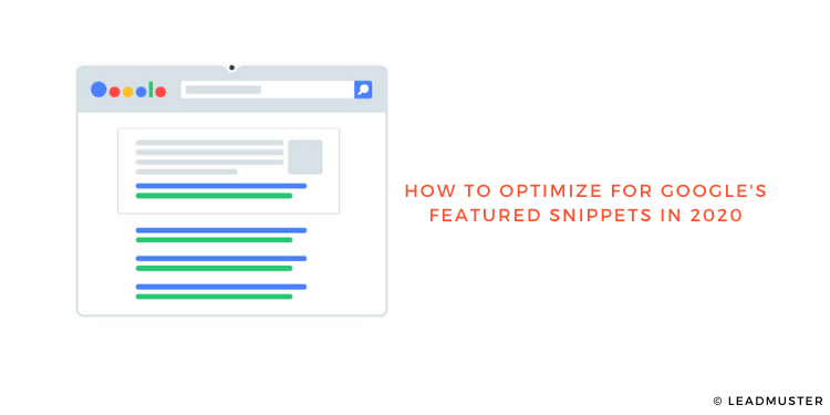 How to Optimize for Google's Featured Snippets in 2020